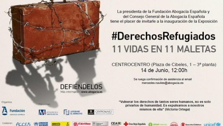 """Más de 15.000 personas visitan la Exposición """"#DerechosRefugiados 11 vidas en 11 maletas"""""""